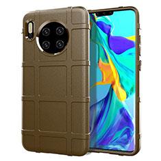 Funda Silicona Ultrafina Goma 360 Grados Carcasa C05 para Huawei Mate 30 Marron