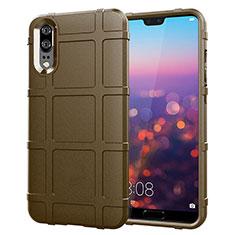 Funda Silicona Ultrafina Goma 360 Grados Carcasa C06 para Huawei P20 Marron