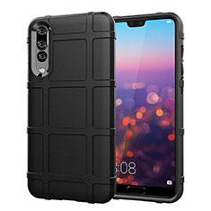 Funda Silicona Ultrafina Goma 360 Grados Carcasa C06 para Huawei P20 Pro Negro