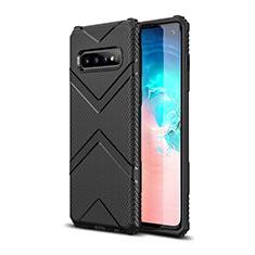 Funda Silicona Ultrafina Goma 360 Grados Carcasa C06 para Samsung Galaxy S10 Negro