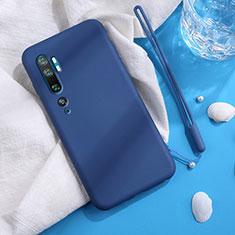Funda Silicona Ultrafina Goma 360 Grados Carcasa C06 para Xiaomi Mi Note 10 Azul