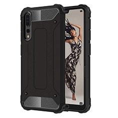 Funda Silicona Ultrafina Goma 360 Grados Carcasa C07 para Huawei P20 Pro Negro