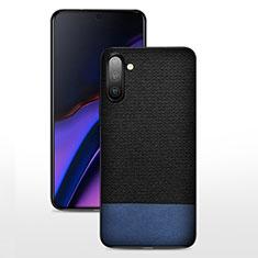 Funda Silicona Ultrafina Goma 360 Grados Carcasa C07 para Samsung Galaxy Note 10 5G Azul y Negro