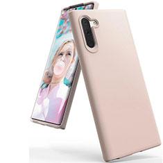 Funda Silicona Ultrafina Goma 360 Grados Carcasa C08 para Samsung Galaxy Note 10 5G Oro Rosa