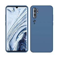 Funda Silicona Ultrafina Goma 360 Grados Carcasa C08 para Xiaomi Mi Note 10 Azul
