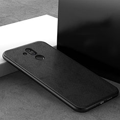 Funda Silicona Ultrafina Goma 360 Grados Carcasa C09 para Huawei Mate 20 Lite Negro
