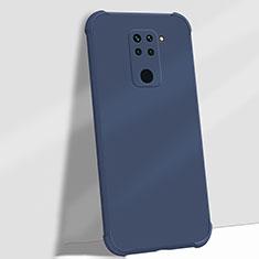 Funda Silicona Ultrafina Goma 360 Grados Carcasa G01 para Xiaomi Redmi Note 9 Azul