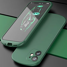 Funda Silicona Ultrafina Goma 360 Grados Carcasa N01 para Apple iPhone 12 Mini Verde