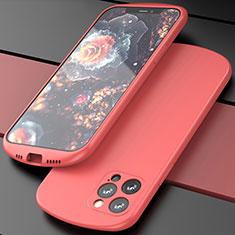 Funda Silicona Ultrafina Goma 360 Grados Carcasa N01 para Apple iPhone 12 Pro Max Rojo