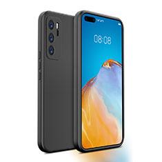 Funda Silicona Ultrafina Goma 360 Grados Carcasa N01 para Huawei P40 Negro