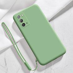 Funda Silicona Ultrafina Goma 360 Grados Carcasa N03 para Samsung Galaxy Note 20 5G Menta Verde