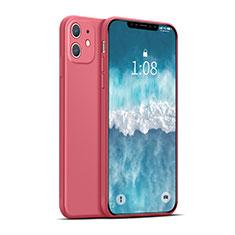 Funda Silicona Ultrafina Goma 360 Grados Carcasa para Apple iPhone 12 Max Rojo