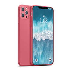 Funda Silicona Ultrafina Goma 360 Grados Carcasa para Apple iPhone 12 Pro Max Rojo