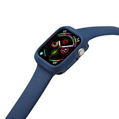 Funda Silicona Ultrafina Goma 360 Grados Carcasa para Apple iWatch 5 44mm Azul