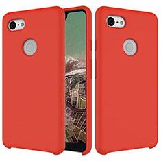 Funda Silicona Ultrafina Goma 360 Grados Carcasa para Google Pixel 3 XL Rojo