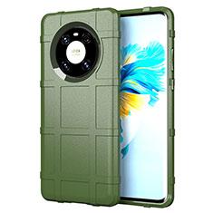 Funda Silicona Ultrafina Goma 360 Grados Carcasa para Huawei Mate 40 Ejercito Verde