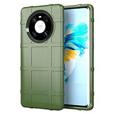 Funda Silicona Ultrafina Goma 360 Grados Carcasa para Huawei Mate 40 Pro Ejercito Verde