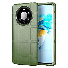 Funda Silicona Ultrafina Goma 360 Grados Carcasa para Huawei Mate 40 Pro+ Plus Ejercito Verde