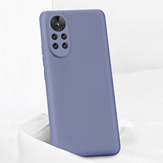 Funda Silicona Ultrafina Goma 360 Grados Carcasa para Huawei Nova 8 Pro 5G Gris Lavanda