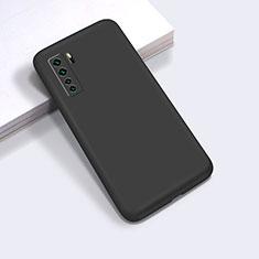 Funda Silicona Ultrafina Goma 360 Grados Carcasa para Huawei P40 Lite 5G Negro