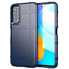 Funda Silicona Ultrafina Goma 360 Grados Carcasa para Huawei Y7a Azul
