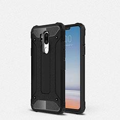 Funda Silicona Ultrafina Goma 360 Grados Carcasa para LG G7 Negro