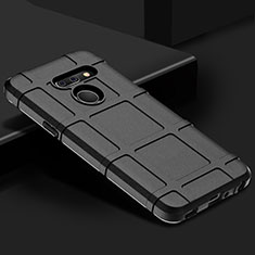 Funda Silicona Ultrafina Goma 360 Grados Carcasa para LG G8 ThinQ Negro