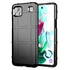 Funda Silicona Ultrafina Goma 360 Grados Carcasa para LG K92 5G Negro