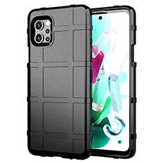 Funda Silicona Ultrafina Goma 360 Grados Carcasa para LG Q92 5G Negro