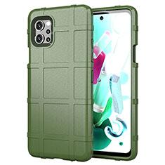 Funda Silicona Ultrafina Goma 360 Grados Carcasa para LG Q92 5G Verde