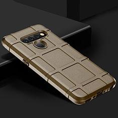Funda Silicona Ultrafina Goma 360 Grados Carcasa para LG V50 ThinQ 5G Marron