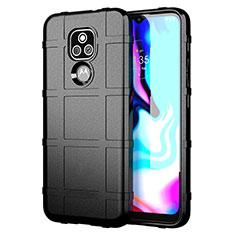 Funda Silicona Ultrafina Goma 360 Grados Carcasa para Motorola Moto E7 Plus Negro