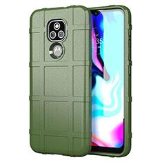 Funda Silicona Ultrafina Goma 360 Grados Carcasa para Motorola Moto E7 Plus Verde