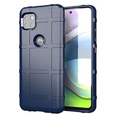 Funda Silicona Ultrafina Goma 360 Grados Carcasa para Motorola Moto G 5G Azul
