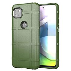 Funda Silicona Ultrafina Goma 360 Grados Carcasa para Motorola Moto G 5G Ejercito Verde