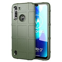 Funda Silicona Ultrafina Goma 360 Grados Carcasa para Motorola Moto G8 Power Lite Verde