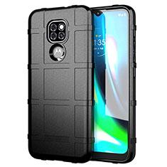 Funda Silicona Ultrafina Goma 360 Grados Carcasa para Motorola Moto G9 Negro