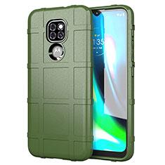 Funda Silicona Ultrafina Goma 360 Grados Carcasa para Motorola Moto G9 Play Verde