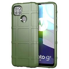Funda Silicona Ultrafina Goma 360 Grados Carcasa para Motorola Moto G9 Power Ejercito Verde