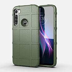 Funda Silicona Ultrafina Goma 360 Grados Carcasa para Motorola Moto One Fusion Plus Verde