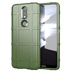 Funda Silicona Ultrafina Goma 360 Grados Carcasa para Nokia 2.4 Ejercito Verde