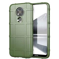 Funda Silicona Ultrafina Goma 360 Grados Carcasa para Nokia 3.4 Ejercito Verde