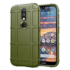 Funda Silicona Ultrafina Goma 360 Grados Carcasa para Nokia 4.2 Ejercito Verde