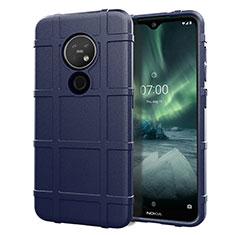 Funda Silicona Ultrafina Goma 360 Grados Carcasa para Nokia 7.2 Azul