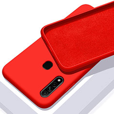 Funda Silicona Ultrafina Goma 360 Grados Carcasa para Oppo A8 Rojo