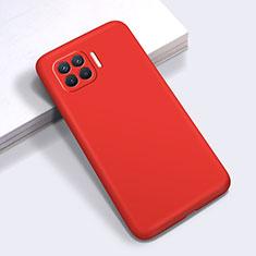 Funda Silicona Ultrafina Goma 360 Grados Carcasa para Oppo Reno4 Lite Rojo