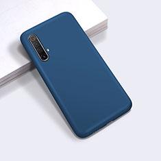 Funda Silicona Ultrafina Goma 360 Grados Carcasa para Realme X50m 5G Azul