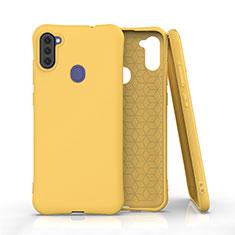 Funda Silicona Ultrafina Goma 360 Grados Carcasa para Samsung Galaxy A11 Amarillo