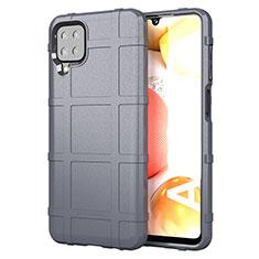 Funda Silicona Ultrafina Goma 360 Grados Carcasa para Samsung Galaxy A12 Gris