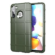 Funda Silicona Ultrafina Goma 360 Grados Carcasa para Samsung Galaxy A21 Ejercito Verde